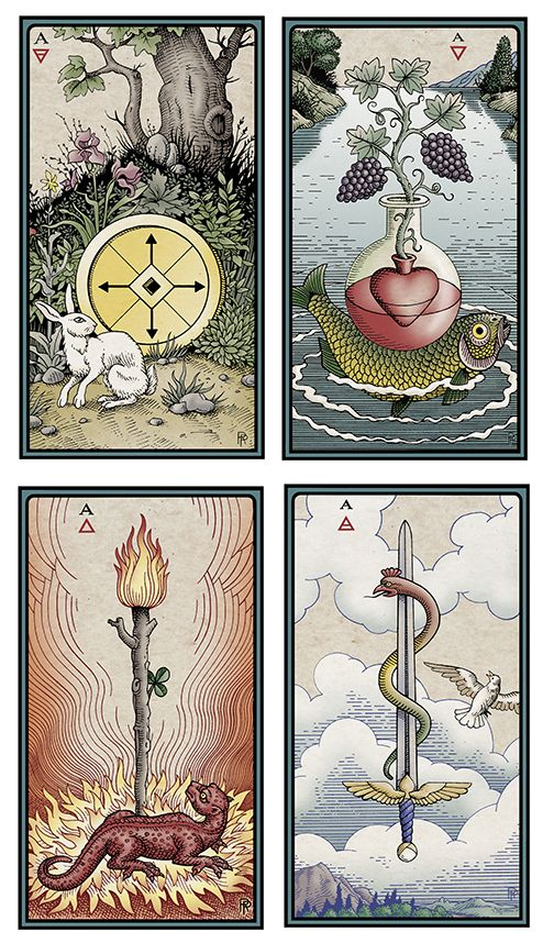 Aces Quot The Alchemical Tarot Renewed Four Quot By Robert Place