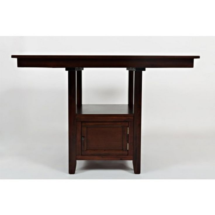 Jofran Tessa Chianti Counter Height Table With Storage Base 933-48TBKT - Jofran Tessa Chianti Counter Height Table With Storage Base 933-48TBKTThis understated pub-height set features a beautiful Tessa Chianti finish for a dark, sophisticated look. The square table top is supported by a pedestal base that includes a storage cupboard perfect for dishware and dining accessories.SKU: 933-48TBKTManufacturer: JofranCollection:
