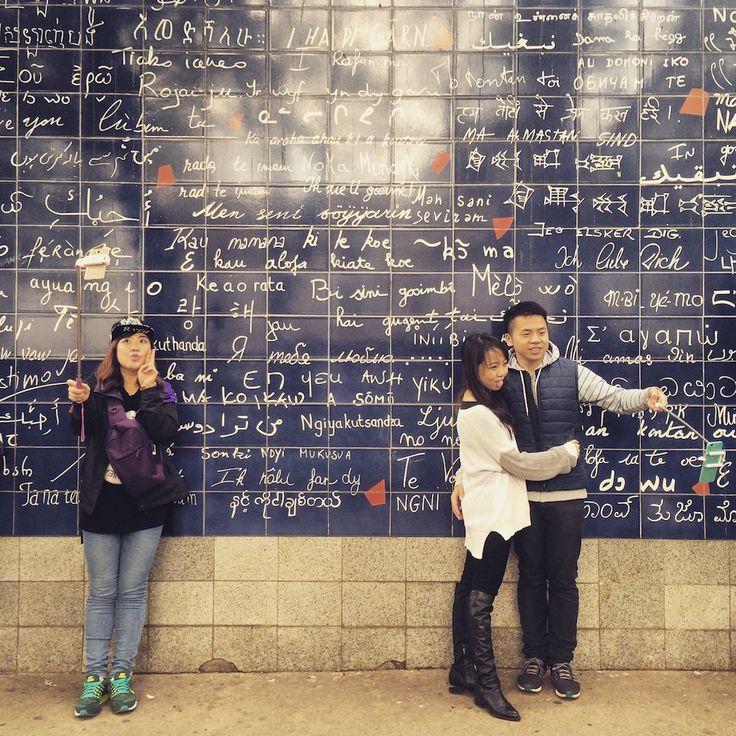 Le mur des Je T'Aime, Paris