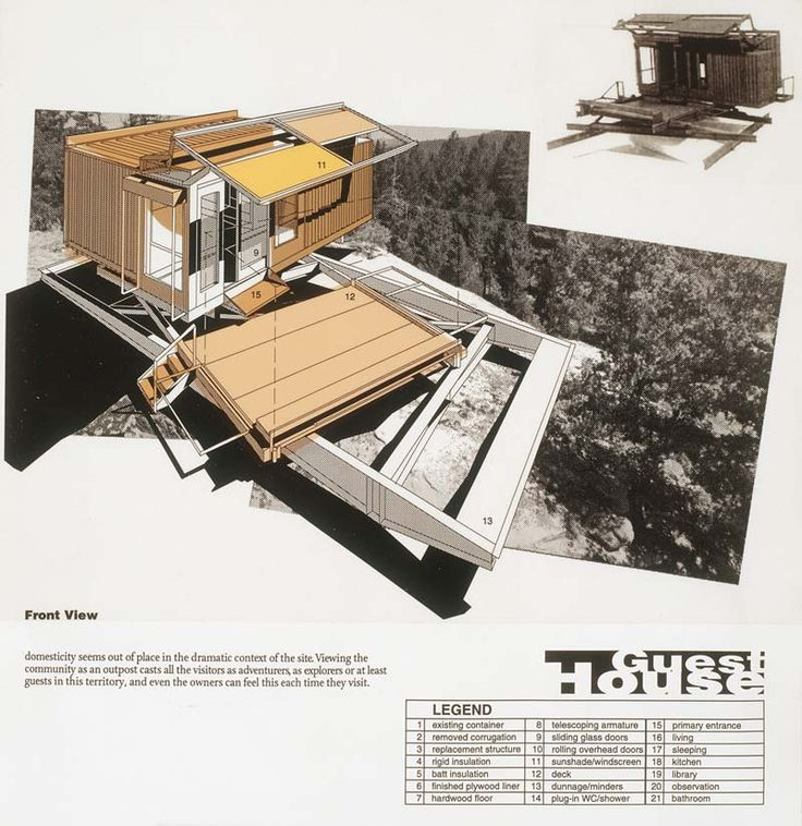 1000 images about architects wes jones on pinterest for Guest house models