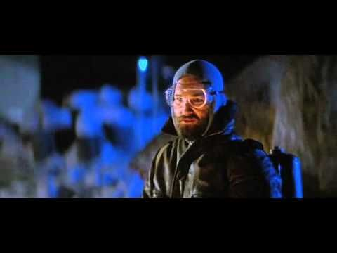 The Thing - This movie is pretty freaky. The new one does not compare to the 80's version, and the really old one just didn't have the scare affect the 80's one did.  http://www.thrillerchiller.com