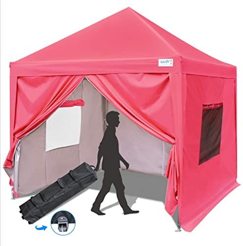 Buy Quictent Privacy 10x10 Ez Pop Up Canopy Tent Folding Canopy Sidewalls Mesh Windows Waterproof Pink Online Ppwonderfulrange In 2020 Pop Up Canopy Tent Canopy Tent Canopy Tent Outdoor