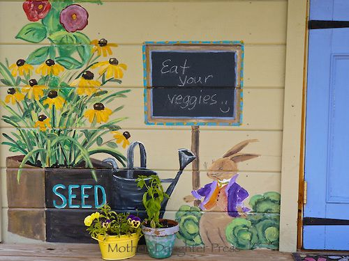 Pictures Of Garden Murals | Mural At The Childrens Garden At Yarmouth  Community Garden, Yarmouth