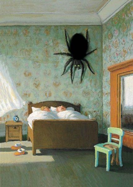 Spinne am Morgen    Künstler: Michael Sowa