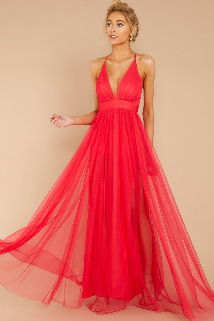 82bd7ba2b6 ... Bright Pink Maxi Dress. Elegant dress features a plunging V neck on a  fitted