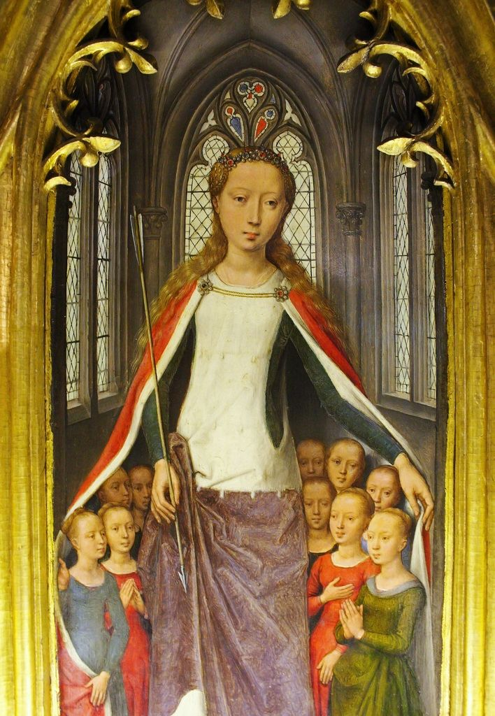 detail from The Reliquary of St. Ursula, Hans Memling