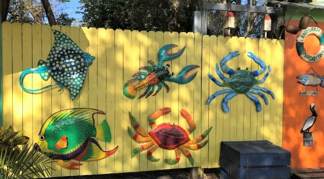 Our Large Outdoor Metal Wall Art Are Hand Crafted By Caribbean Artisans Come See Our Terrif Tropical Metal Wall Art Tropical Wall Decor Outdoor Metal Wall Art