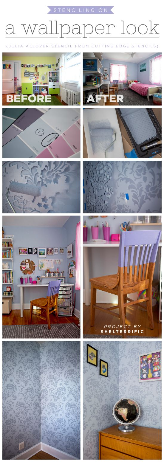 105 best color me purple images on pinterest cutting edge cutting edge stencils shares a diy stenciled accent wall using the julia allover stencil for a amipublicfo Gallery