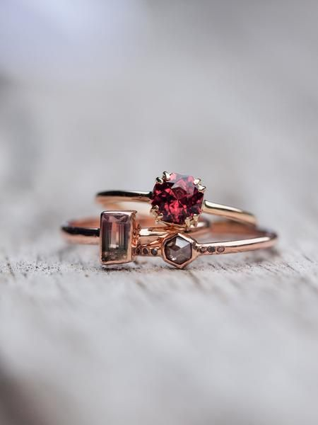 Octagon Garnet Ring    Make it yours!