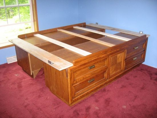 build a captains bed from two dressers