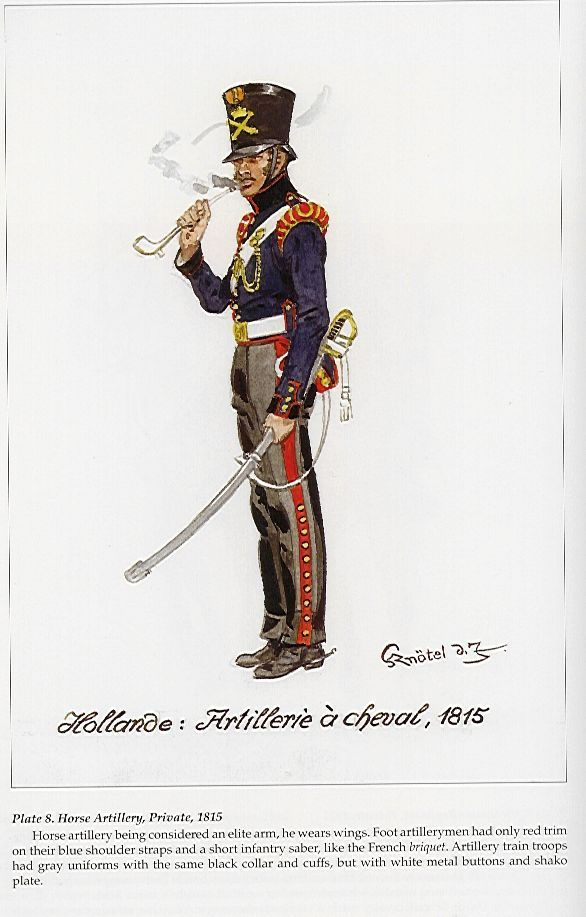 Dutch Horse Artillery, 1815.