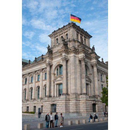 Bundestag Berlin Germany Canvas Art - Inger Hogstrom DanitaDelimont (15 x 22)