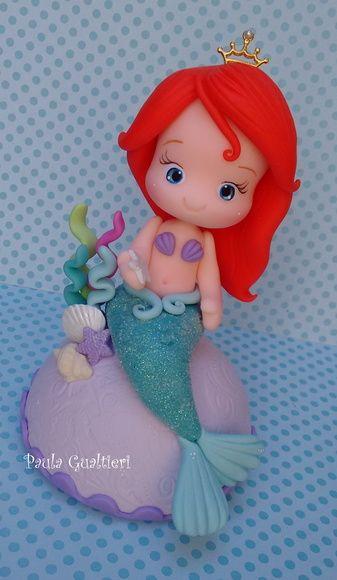 Topo de bolo Ariel 15 cm!