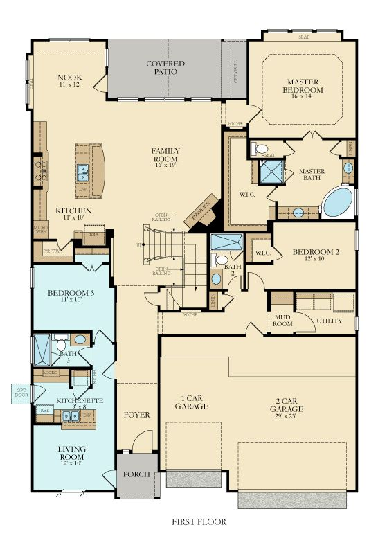 10 Best House Plans With Space For Mom Images On Pinterest: village house plan