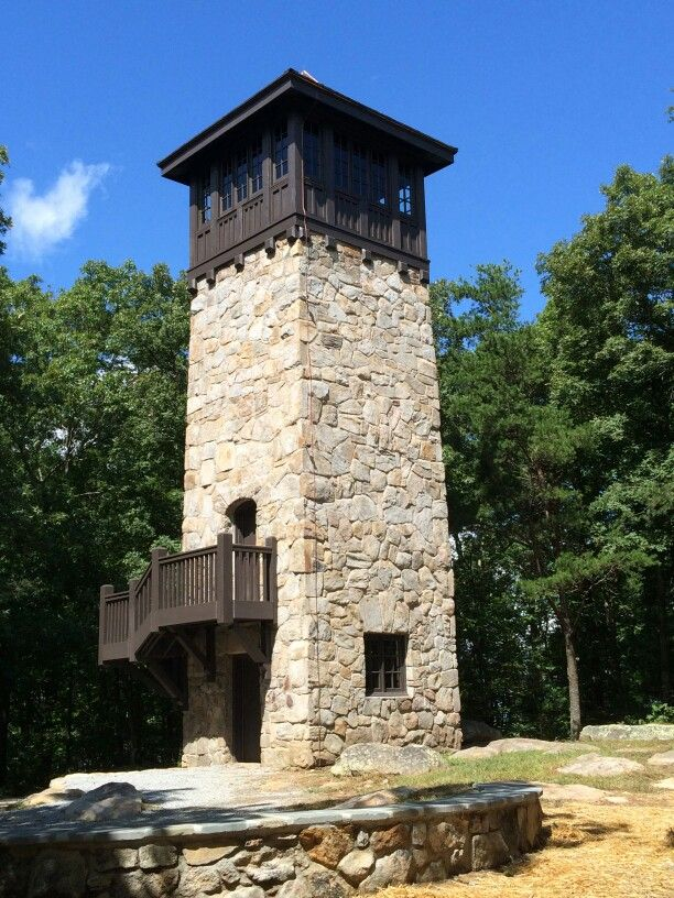 The refurbished Civilian Conservation Corps fire tower at Fort Mountain State Park in Chatsworth, GA.