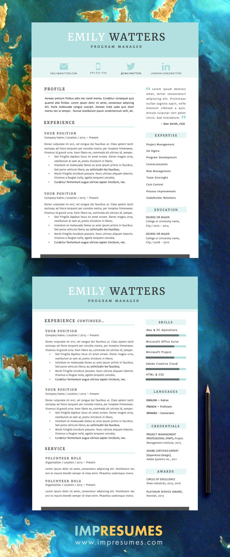 Resume Cover Letter References Template