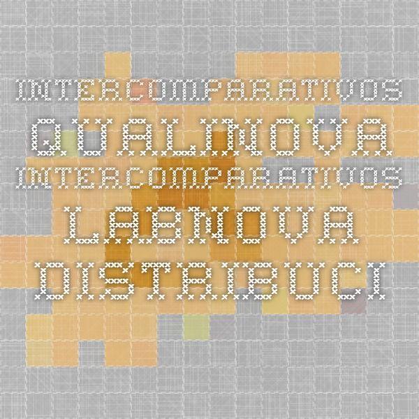 Intercomparativos Qualinova - Intercomparativos - Labnova Distribuciones S.L. - Labnova