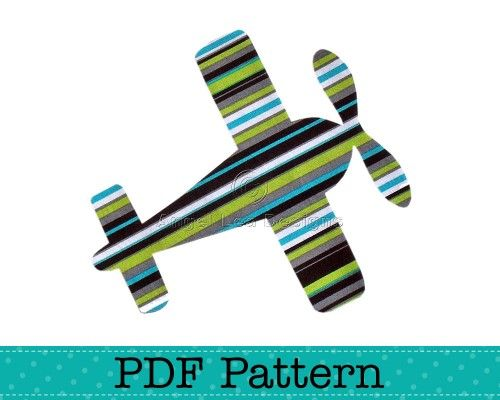 Aeroplane (airplane) applique pattern. PDF template to make your own aeroplane iron on applique patch.    The template is an outline drawing of the applique shapes that can be printed on A4 / letter s