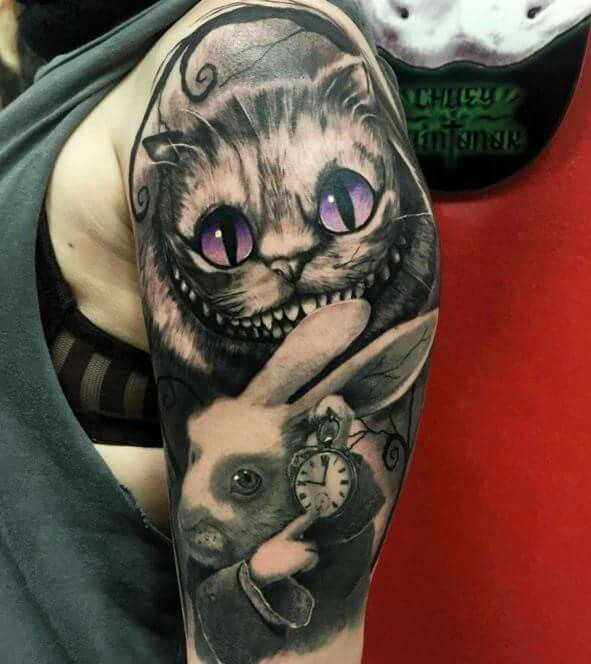 17 best ideas about tattoo alice in wonderland on for Bad cat tattoo