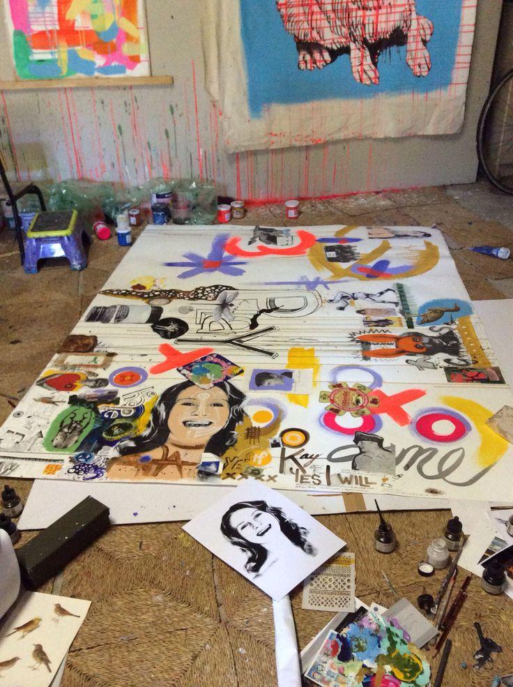 Artist studio Rachel DENNY art