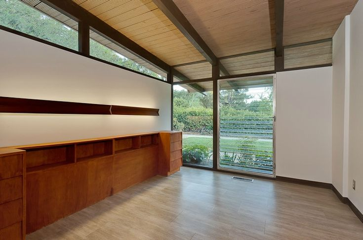 For the first time on the market since it was built in 1957, the family residence of architect Philip Kimmelman, A.I.A. Located on Wonderland Park in the Hollywood Hills, this 1,834 square foot residence has been restored to its original condition and features beamed ceilings, block walls, vinyl floors, built-ins, wood burning fireplace, and landscape design by Garrett Eckbo.