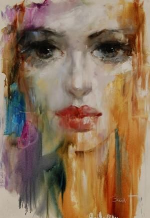 "Saatchi Online Artist: Stas Sugint; Oil 2013 Painting ""Saule"" by leanna"