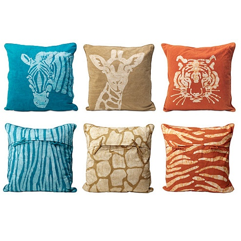 Animal Pillow Pinterest : LOVE red and blue for my couch. safari animal pillows Pillow Talk Pinterest Jordans, Red ...