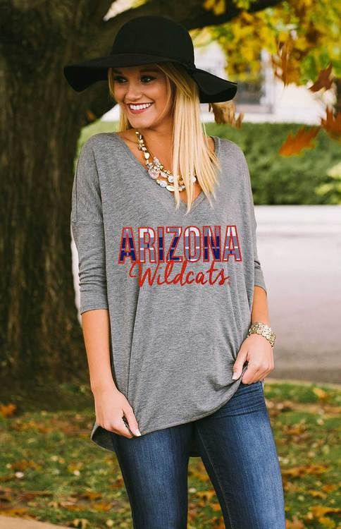 UNIVERSITY OF ARIZONA must-have team tee. Casual, comfortable fit, and team…