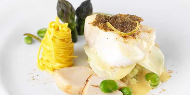 This seafood recipe from Frances Atkins pairs sweetly spiced cod with scallops…