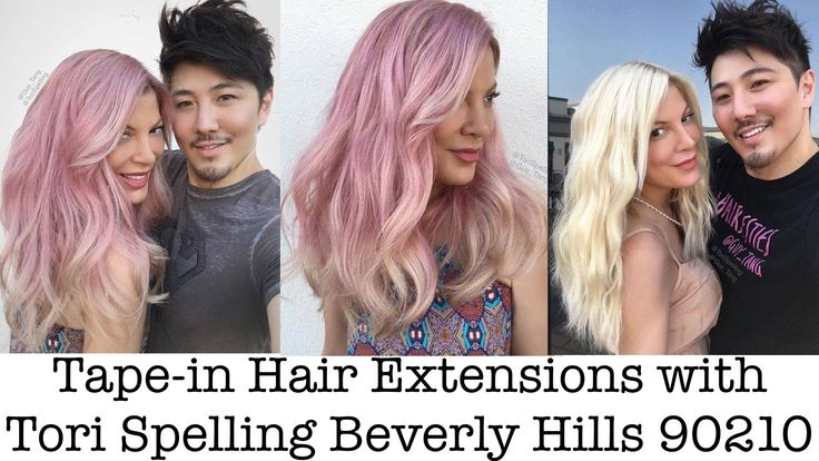 Tape-in Hair Extensions with Tori Spelling Beverly Hills 90210