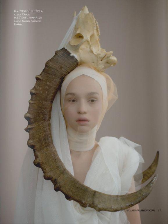 #antler #fashion #neutral #tulle #portrait #photographyInspiration, Animal Spirit, Style, Mad Hatters, Art, Portraits Photography, Fashion Antlers, Charmaine Olivia, Fashion Editorial