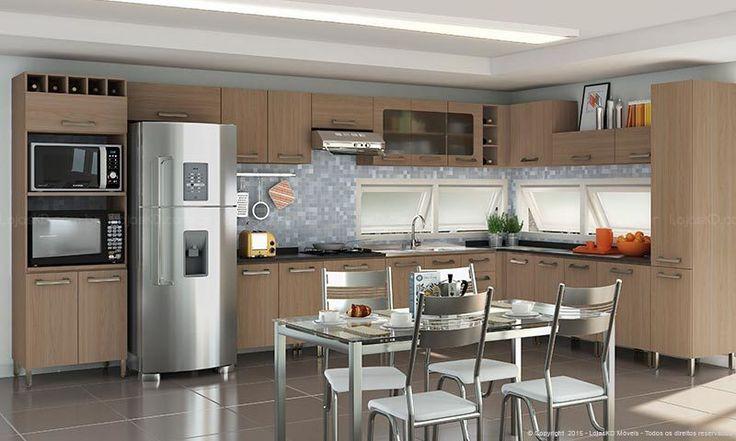 Cozinha Modulada Completa com 15 Módulos Sense Nature - Kappesberg   Lojas KD