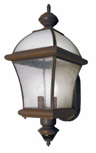 Heath/Zenith SL-4153-RS 150-Degree Motion-Activated Nantucket Style Decorative Lantern, Rust by Heath/Zenith. $79.95. From the Manufacturer                The SL-4135-RS features 150-degree motion detection up to 30 feet away. The lantern has seeded glass and is constructed of metal with a weather resistant finish. Patented DualBrite two-level lighting provides soft accent lighting and full power security lighting when motion is detected. Uses (1) 60 watts max medium ...