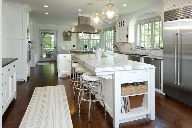 Dream KitchenLights, Dreams Kitchens, Pendants, Floors, Kitchens Ideas, Marbles, Islands, Home Kitchens, White Kitchens