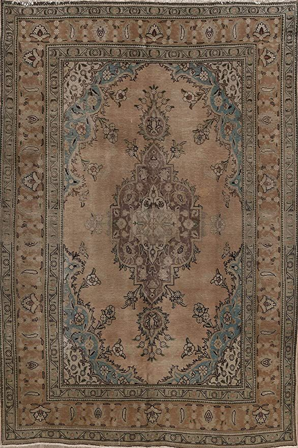 Brown Geometric Mashhad Wool Traditional Area Rug Hand Knotted Oriental Carpet 7x10 7 0 Quot X 10 0 Quot Traditional Area Rugs Oriental Carpets Area Rugs