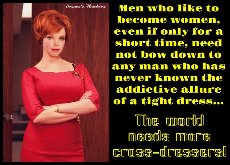 Poster: The World Needs More Cross-dressers