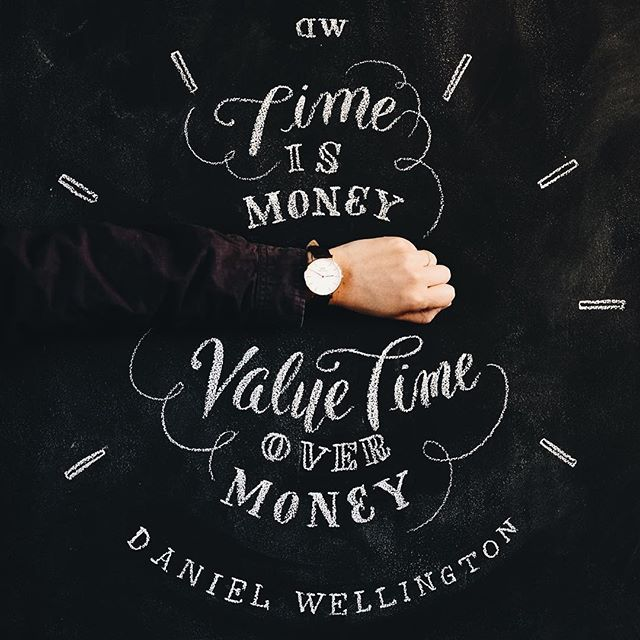 Time is money Value time over money  with @danielwellington  #CHALKBOY…