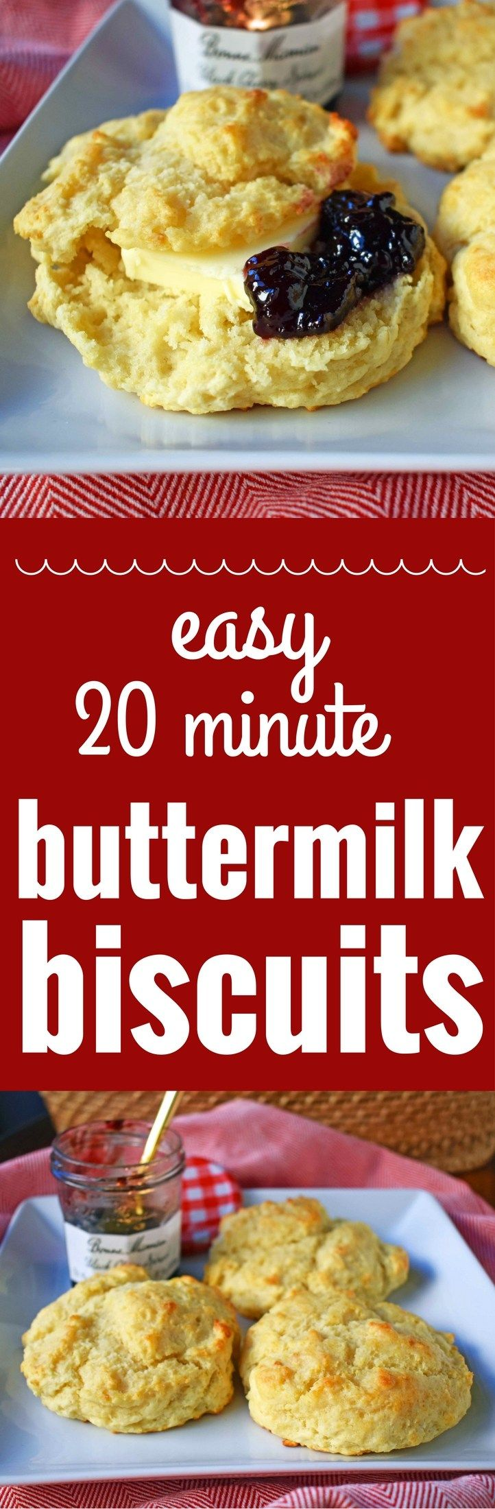 Easy Buttermilk Drop Biscuits. Homemade buttery, flaky biscuits made in less than 20 minutes. A tender, made from scratch biscuit with a crispy outer crust that is super simple to make. www.modernhoney.com