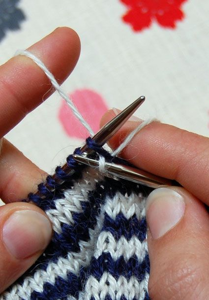 Knitting Vertical Stripes In The Round : Images about knitting patterns tutorials on