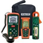 Light Meter/Laser Distance Meter Kit with AC/DC Power Clamp Meter