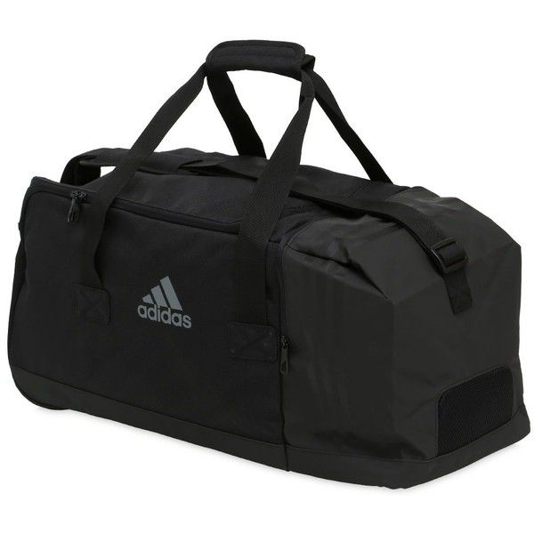 adidas performance men medium 3stripes duffle bag 51 liked on polyvore - Mens Leather Duffle Bag