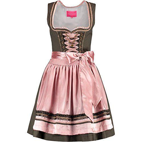 #Wiesn #Oktoberfest #Krüger #Dirndl #Romance #rosa #grün #50er,  32 Krüger Dirndl Romance rosa grün 50er, Gr.32, , Dirndllänge ca. 92 cm, Schürzenlänge: 50 cm, Krueger Madl, 100% Baumwolle,