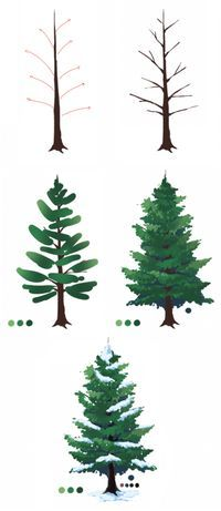 Christmas tree tutorials photoshop Tree Drawing from the storeroom @ POTW