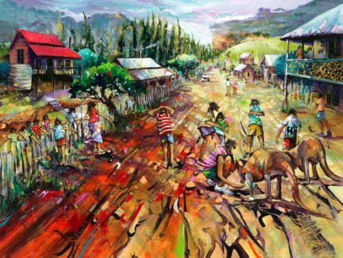 """""""The Entertainers"""" limited editin signed print on canvas by Donald James Waters available from Landsborough Galleries"""