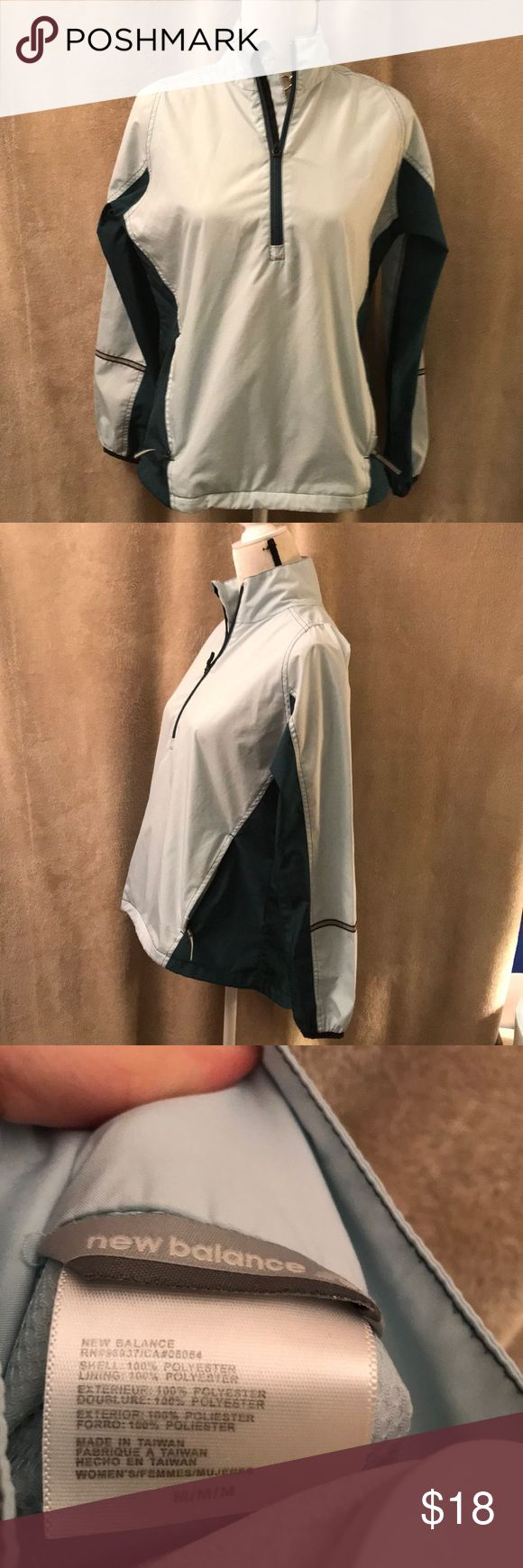 "Women's New Balance Pull Over Windbreaker med Mint green NEW BALANCE pullover windbreaker size med Approximate Measurements:  Pit to pit 19"" Length 23"" No known flaws!  Ask if you have questions! New Balance Jackets & Coats"