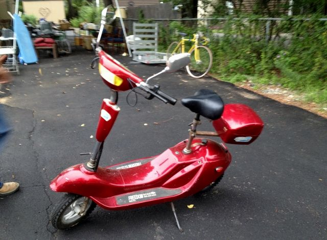 Freedom two wheel scooter in Huricane's Garage Sale in Colleyville , TX for $175.00. Bright red Freedom two wheel scooter with new batteries and runs perfect.