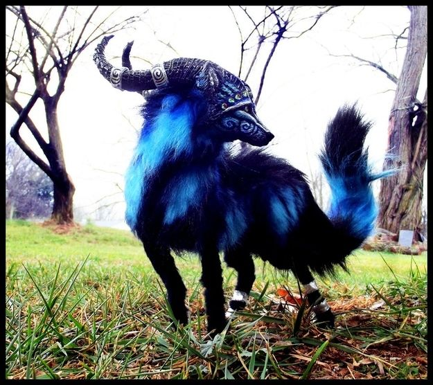 15 Majestic Mythical Creatures Up For Adoption  Even forest spirits and baby dragons need a forever home. Sculptor and child prodigy Wood Splitter Lee has been creating life-like animal replicas since she was 13. Now a young adult, she focuses on fully posable fantastical animals.