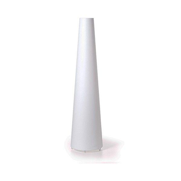 Lámpara de pie formada por una pantalla de viscosa blanca con estructura interior de metal. Portalámparas preparado para una bombilla E27 de 60w. Interruptor on/off en cable de conexión.  Diseñado por Marcel Wanders, 1998.   Referencias Trix Pie - Moooi: MOLTR-W - Trix Blanco