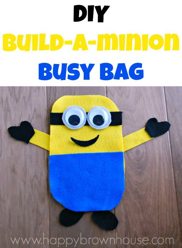 DIY Build-a-Minion Busy Bag using felt. Super easy to make and perfect for the little minion lover in your life.