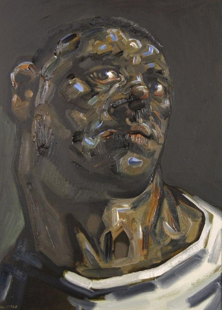 Peter Howson 'Sean', 1992, 61.5x46cm, oil on canvas.